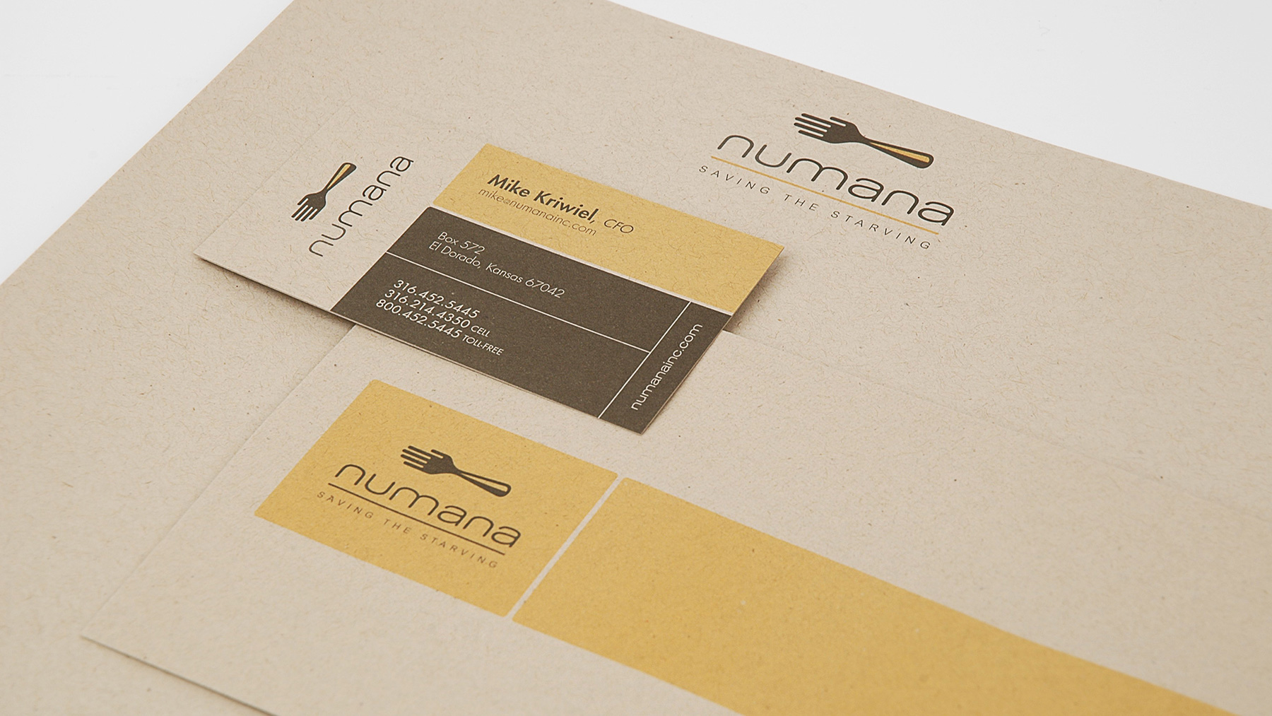 Numana Business Cards and Brand Collateral