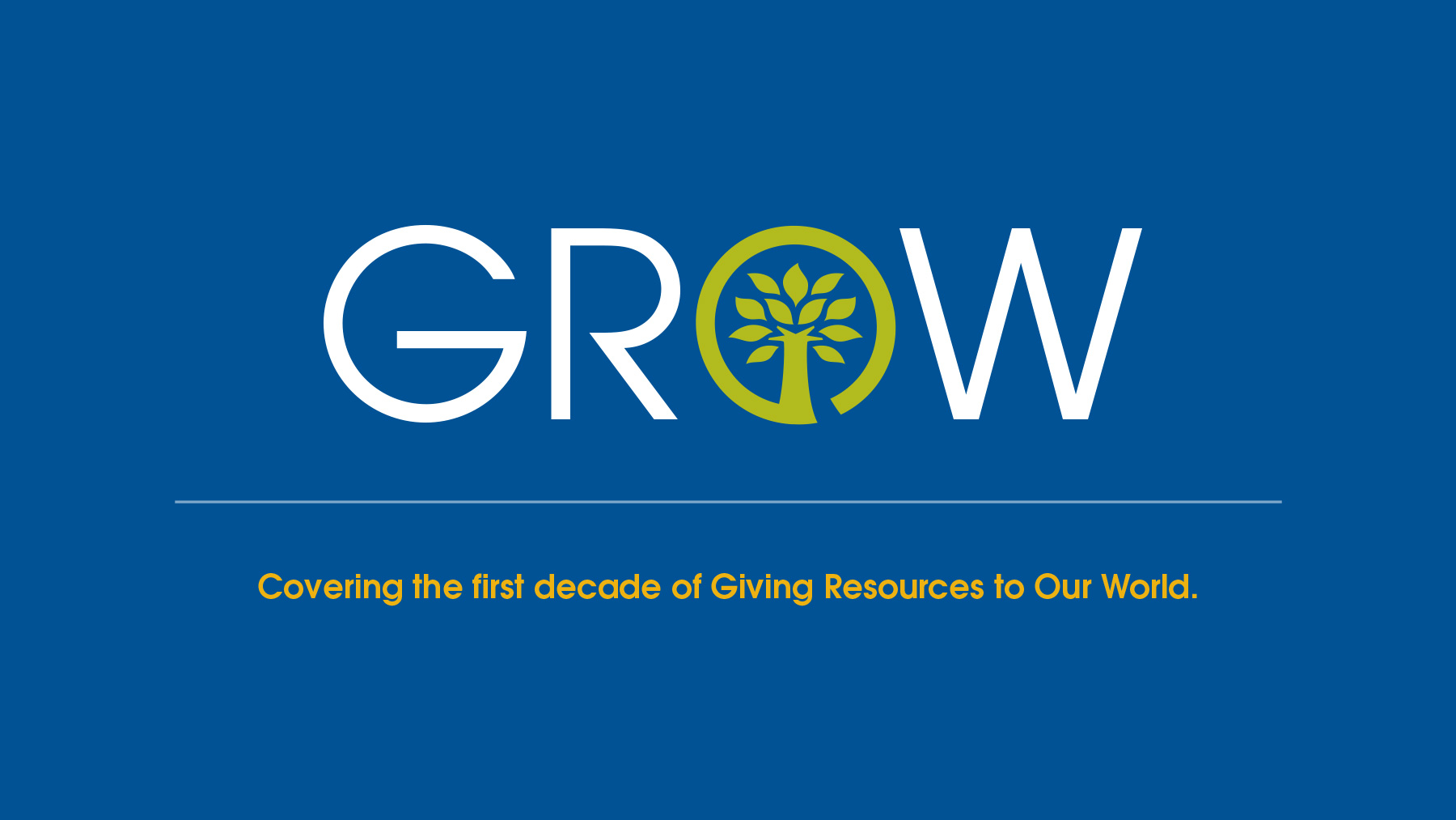 GROW logo and tagline