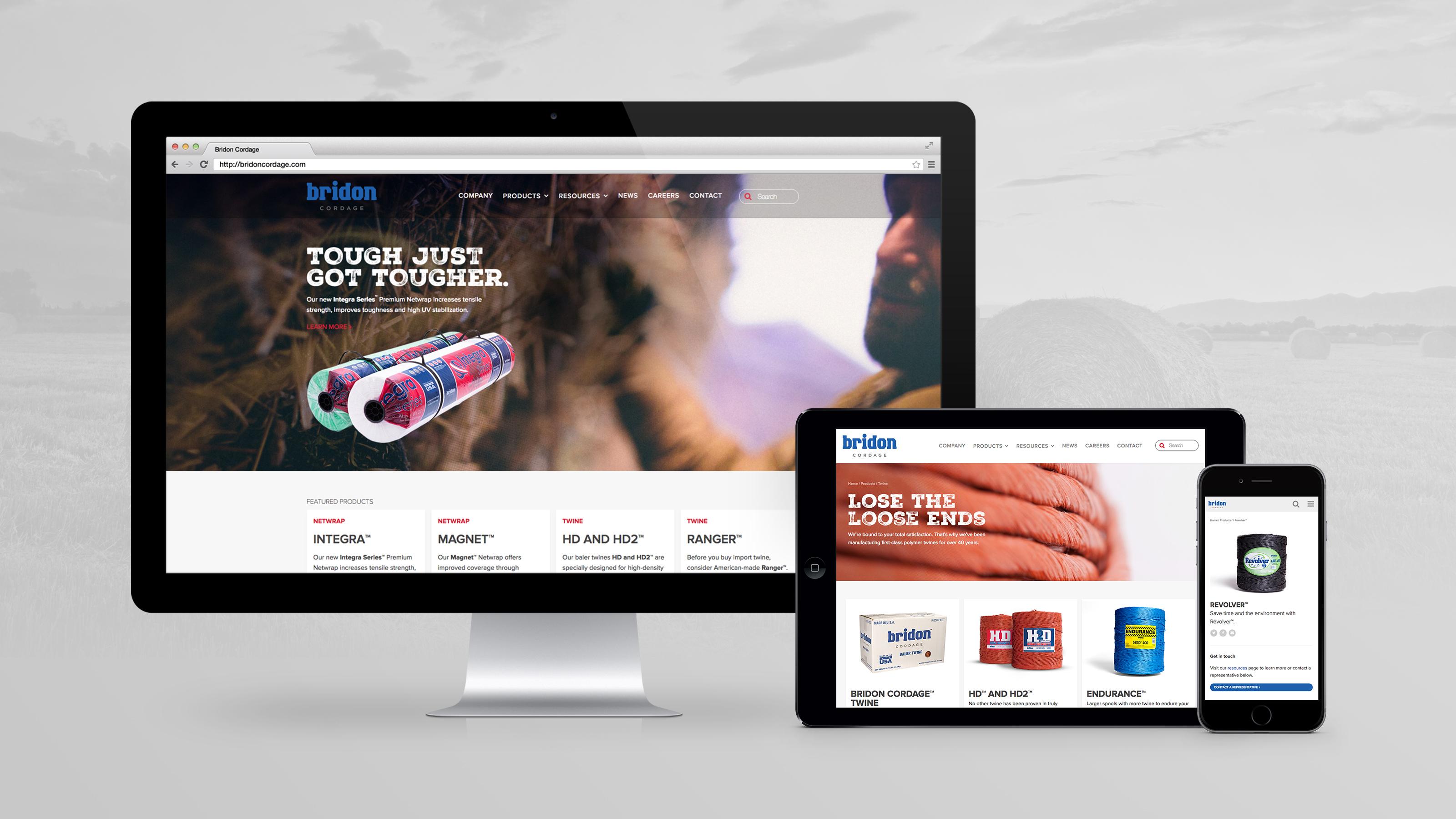 Bridon Cordage Website On Multiple Devices