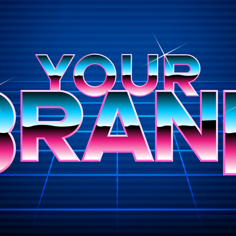 Your Brand Retro Text and Image