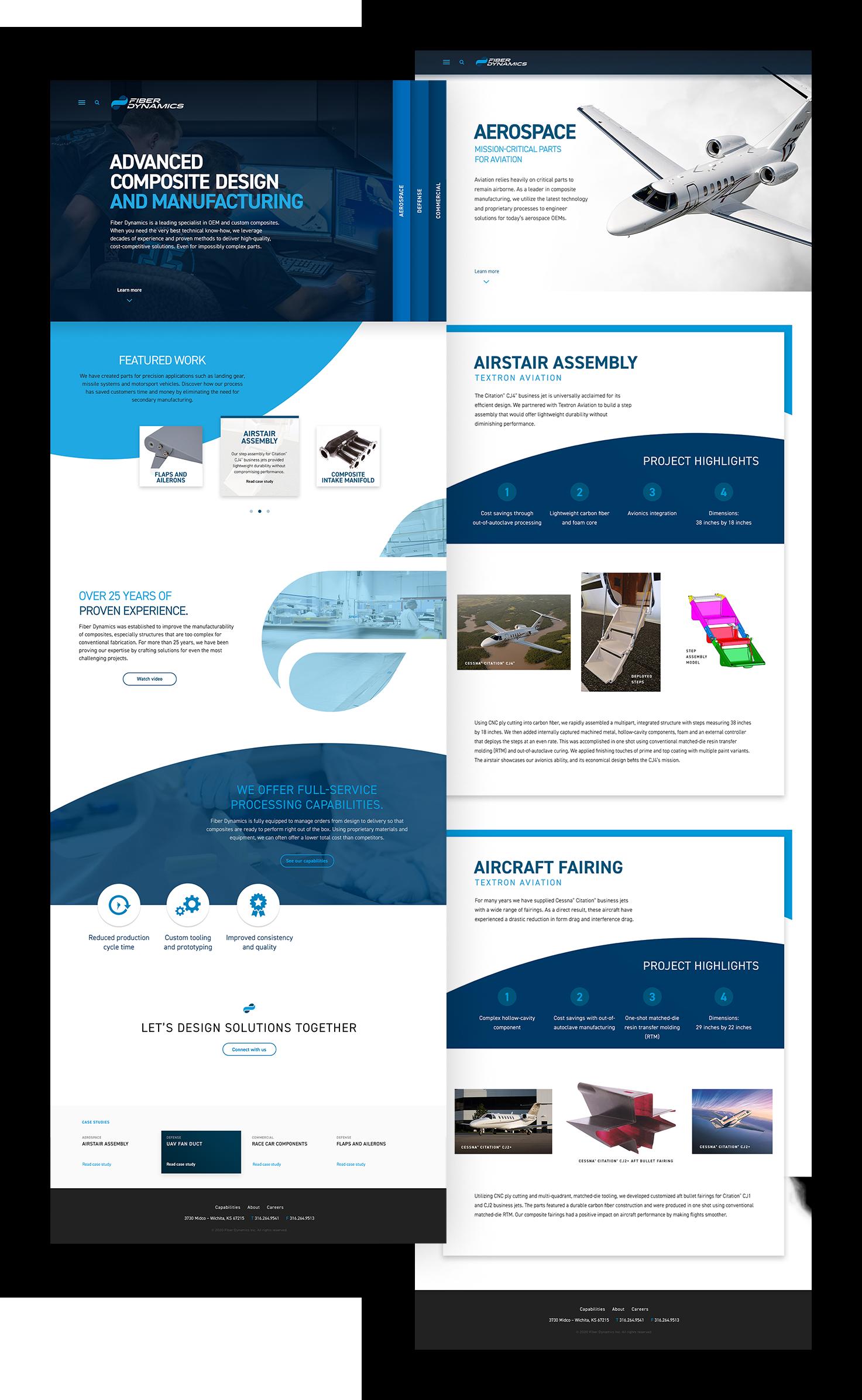 manufacturing website design and development mockup
